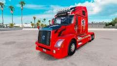 La piel Atalanta Halcones en el tractor Volvo VN
