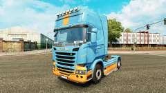La piel DS3 en el tractor Scania