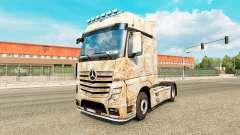 La piel Oxidado en el tractor Mercedes-Benz