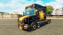 La piel dorada por camión Scania T