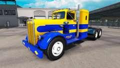 La piel de Oakley en el tractor Kenworth 521