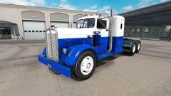 La piel Azul Y Blanco en el camión Kenworth 521