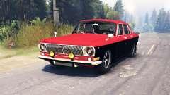 GAZ-24 Volga en una de las Principales para Spin Tires
