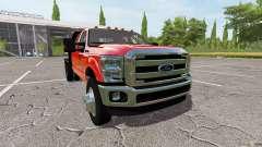 Ford F-350 flatbed para Farming Simulator 2017