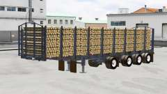 Un camión semi-remolque Manac
