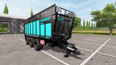 JOSKIN DRAKKAR 8600 blue black edition para Farming Simulator 2017