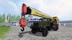 KrAZ 257 camión grúa