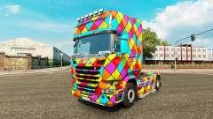 Arlequin de la piel para camión Scania