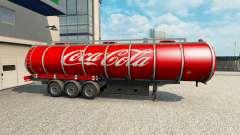 La piel de Coca-Cola en el remolque