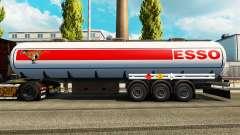 Pieles en el combustible semi-remolque