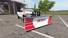 Chevrolet Silverado 2500 HD 2002 plow v3.0 para Farming Simulator 2017