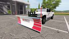 Chevrolet Silverado 2500 HD 2002 plow v3.1 para Farming Simulator 2017