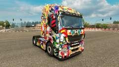 La piel del Universo de Marvel en el camión Ivec