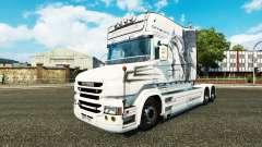 Dragón blanco de la piel para camión Scania T para Euro Truck Simulator 2