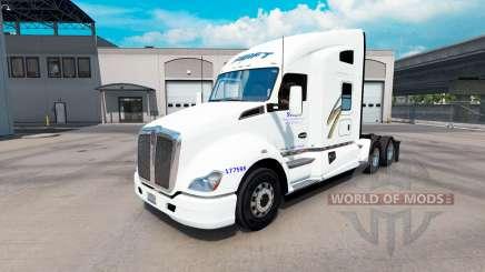 La piel de Swift en el tractor Kenworth T680 para American Truck Simulator