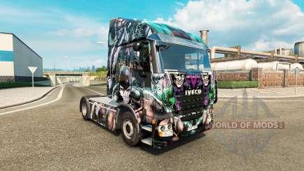 La piel Villanos de DC en el camión Iveco para Euro Truck Simulator 2