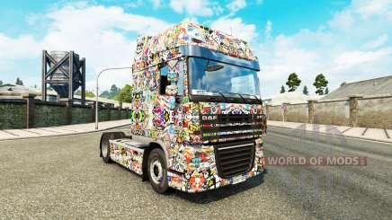 Etiqueta Engomada de la piel por el Bombardeo de Lujo tractora DAF para Euro Truck Simulator 2