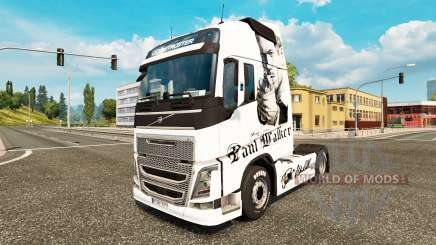 Paul Walker piel para camiones Volvo para Euro Truck Simulator 2