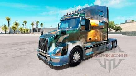 La naturaleza de la piel para camiones Volvo VNL 780 para American Truck Simulator