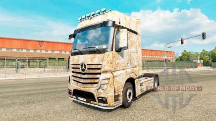 La piel Oxidado en el tractor Mercedes-Benz para Euro Truck Simulator 2