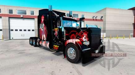 Скин High School DxD Anime на Peterbilt 389 para American Truck Simulator