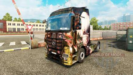 La piel de Tokyo Ghoul en un tractor de Mercedes-Benz para Euro Truck Simulator 2