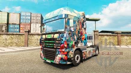 DC Comics de la piel para DAF camión para Euro Truck Simulator 2