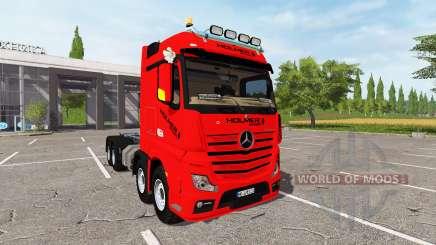 Mercedes-Benz Actros (MP4) 8x8 v1.2 para Farming Simulator 2017