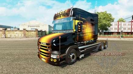 La piel dorada por camión Scania T para Euro Truck Simulator 2