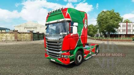 La piel de la locomotora v2.0 camión Scania para Euro Truck Simulator 2