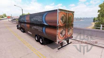 Una colección de 3D pieles en el remolque para American Truck Simulator