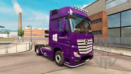 La piel de Windows 10 para el remolque de vehículos de Mercedes-Benz para Euro Truck Simulator 2