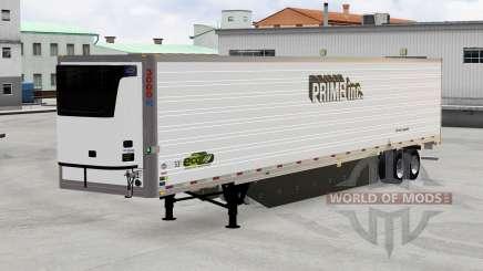Remolque refrigerado, el Primer Inc. para American Truck Simulator