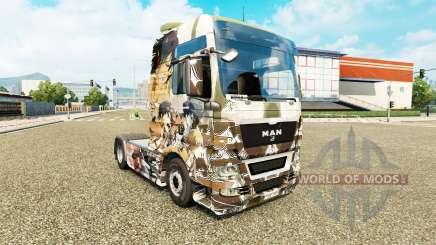 La piel de Ataque a los Titanes en el tractor HOMBRE para Euro Truck Simulator 2