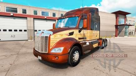 Vintage de Madera de la piel para el camión Peterbilt 579 para American Truck Simulator