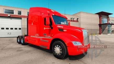 La piel C. R. Inglaterra por un camión Peterbilt 579 para American Truck Simulator