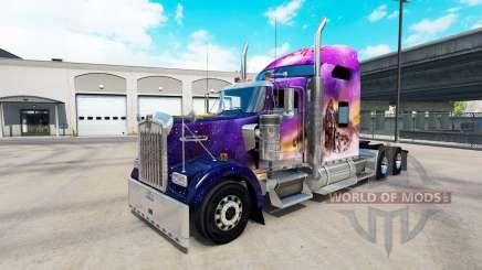 La piel Valerie en el camión Kenworth W900 para American Truck Simulator