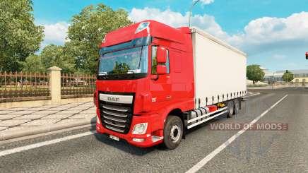 DAF XF Space Cab tandem para Euro Truck Simulator 2