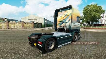 La piel de los Ángeles en el Cielo tractor Scania para Euro Truck Simulator 2