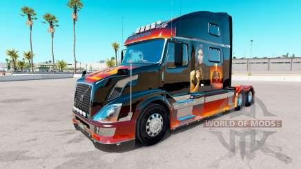 Piel de Niña en el camión Volvo VNL 780 para American Truck Simulator