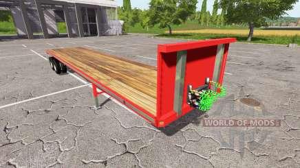 Semi-remolque de plataforma para Farming Simulator 2017
