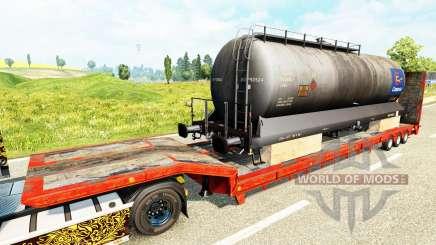 Semi-remolques con zeleznodoroznyj la línea de v1.6 para Euro Truck Simulator 2