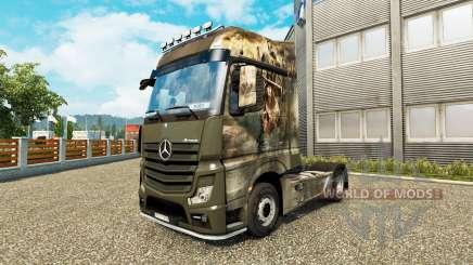 La piel de la Cruzada para tractor Mercedes-Benz para Euro Truck Simulator 2