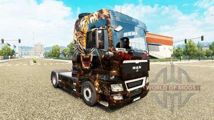 La piel de Tigre en el camión MAN para Euro Truck Simulator 2