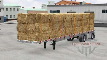 El semirremolque de plataforma con la carga para American Truck Simulator