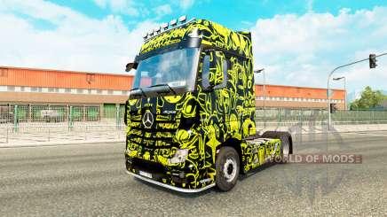 La piel Extranjero Máscara en la unidad tractora Mercedes-Benz para Euro Truck Simulator 2