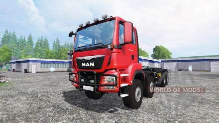 MAN TGS 41480 8x8 container para Farming Simulator 2015
