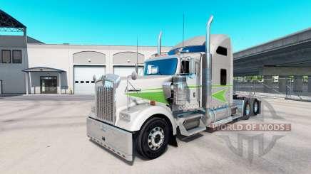 La piel Movin en el tractor camión Kenworth W900 para American Truck Simulator