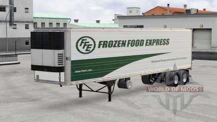 Piel de Madera Congelada Express en el trailer para American Truck Simulator