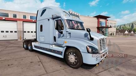 La piel sobre el ADL tractor Freightliner Cascadia para American Truck Simulator